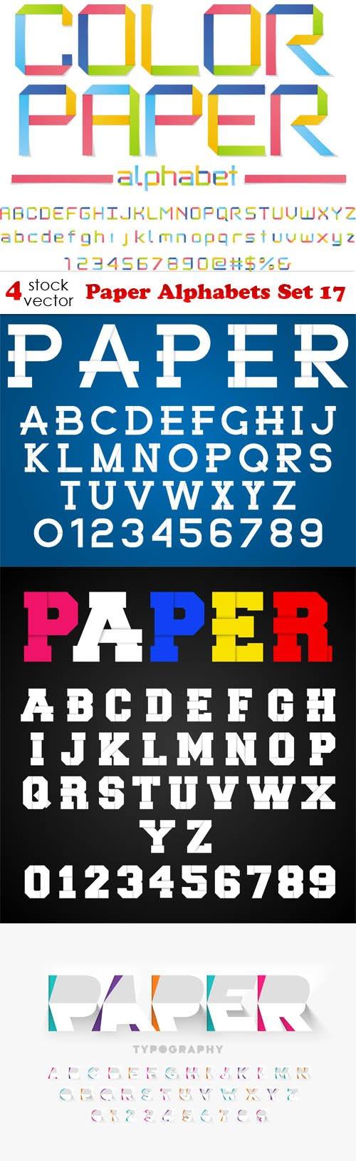 Vectors - Paper Alphabets Set 17