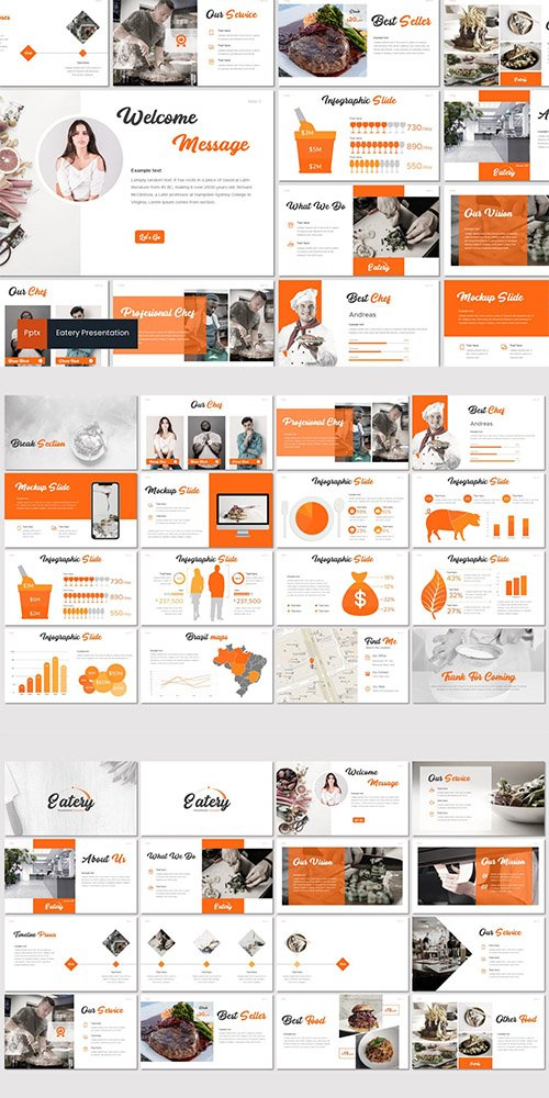 Eatery - Powerpoint Google Slides and Keynote Templates
