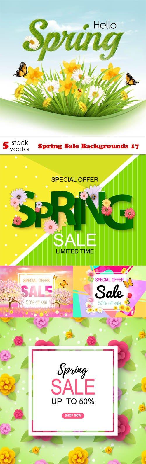 Vectors - Spring Sale Backgrounds 17