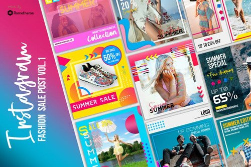 Fashion Sale Shop Instagram Posts vol.01