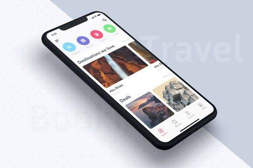 Home UI Concept for Travel App - C3UQLMS