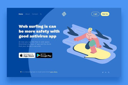 Surfing Landing Page Illustrations