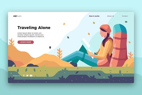 Traveling Alone - Banner & Landing Page
