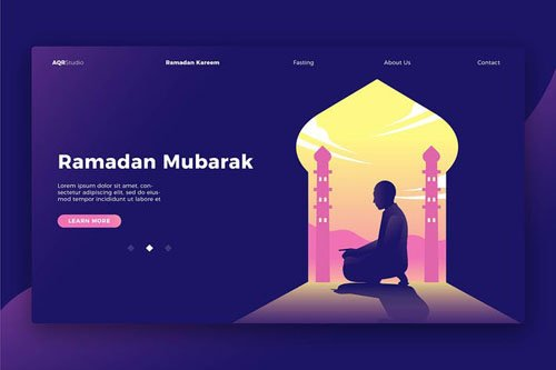 Ramadan Mubarak - Banner & Landing Page