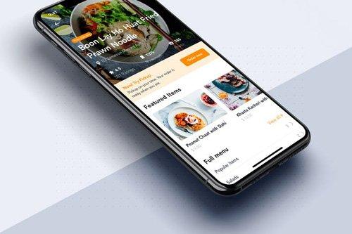 Restaurant details mobile app template - RLENM47
