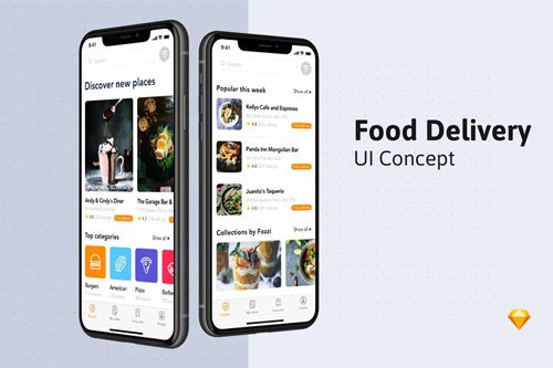 Food Delivery UI Kit - Home screen