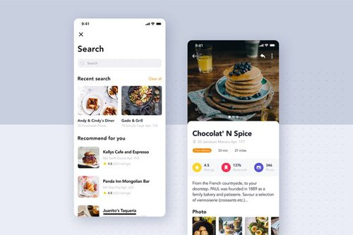 Food Delivery UI Kit - Search screen - UZYP5JT