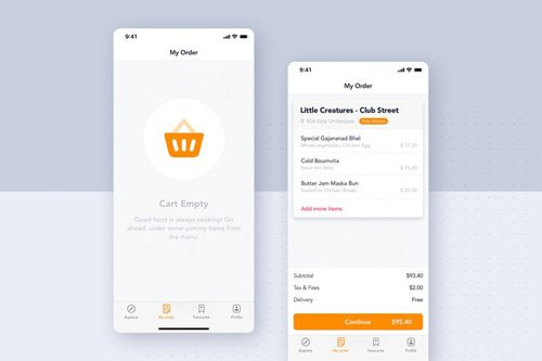 Food Delivery UI Kit - My Order screen - K69XYQ2