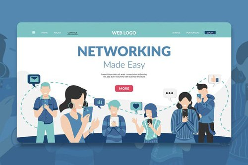 Networking Modern Landing Page Hero