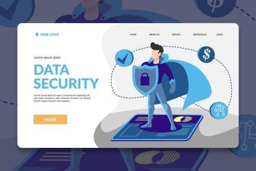 Security Hero Landing Page Illustration