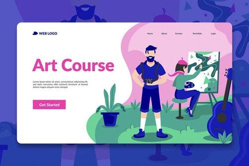 Course Landing Page Hero Illustration