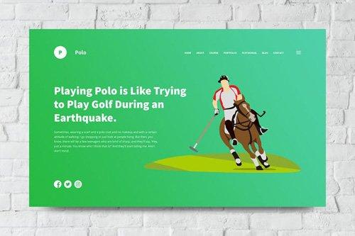 Polo Web Header PSD and Vector Template