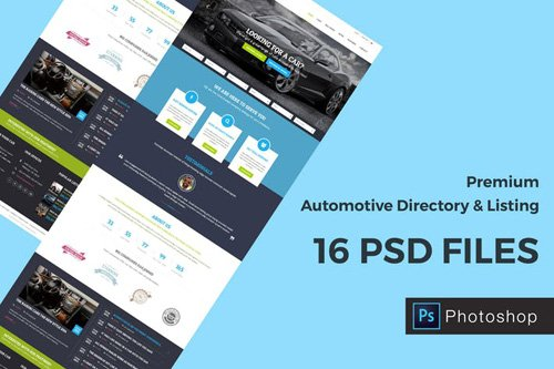 Automotive Directory and Listing PSD Template
