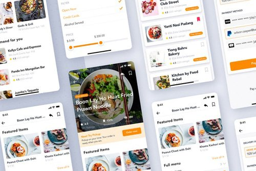 Food Restaurant order app UI Kit - XDLNBPM