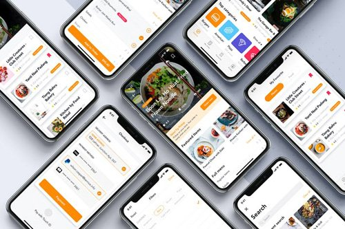 Food Order Mobile App UI Kit - ACLNZ3D
