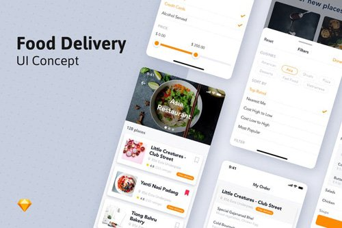 Food Ordering Mobile UI Template - 7AR69TL