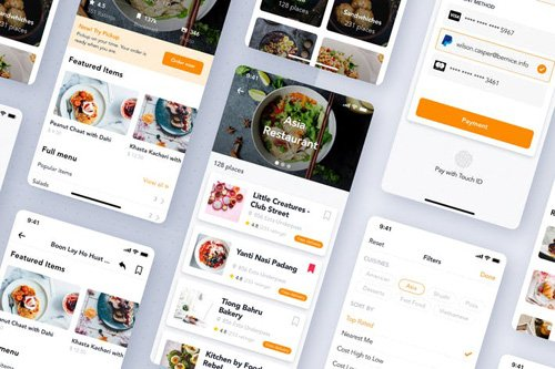 Food Delivery UI Mobile App Template - XGD7ZAQ