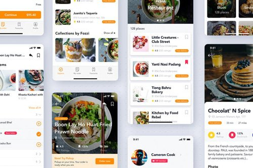 Food & Restaurant mobile UI Kit - REX3KQL