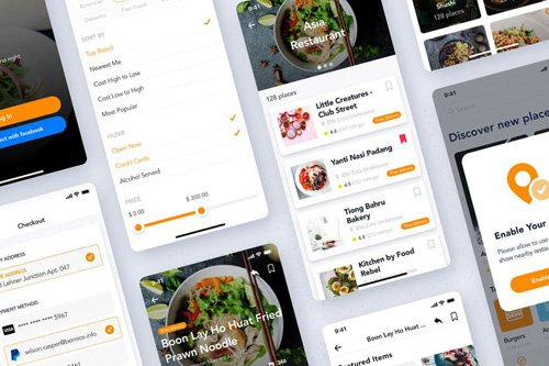 Foody - Ordering Restaurant Mobile UI Kit - EBYV23M