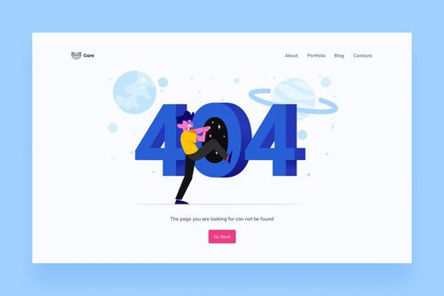 404 Page Illustrations