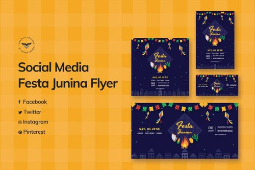 Festa Junina Social Media Template 2