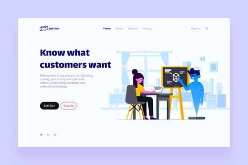 Customer Landing Page Illustrations