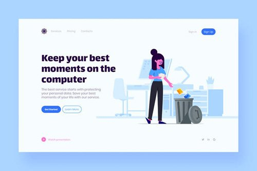 Photo Landing Page Illustration