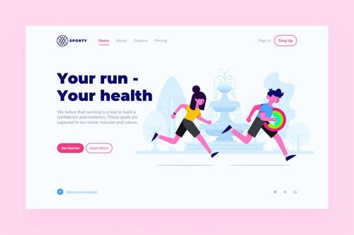 Run Landing Page Illustration