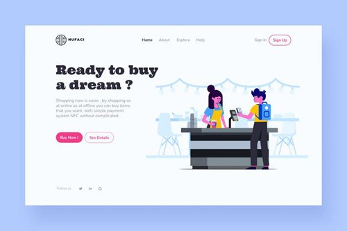 Shopping Landing Page Illustration