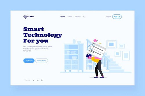 Technology Landing Page Illustration