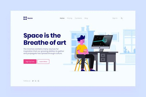 Space Landing Page Illustration