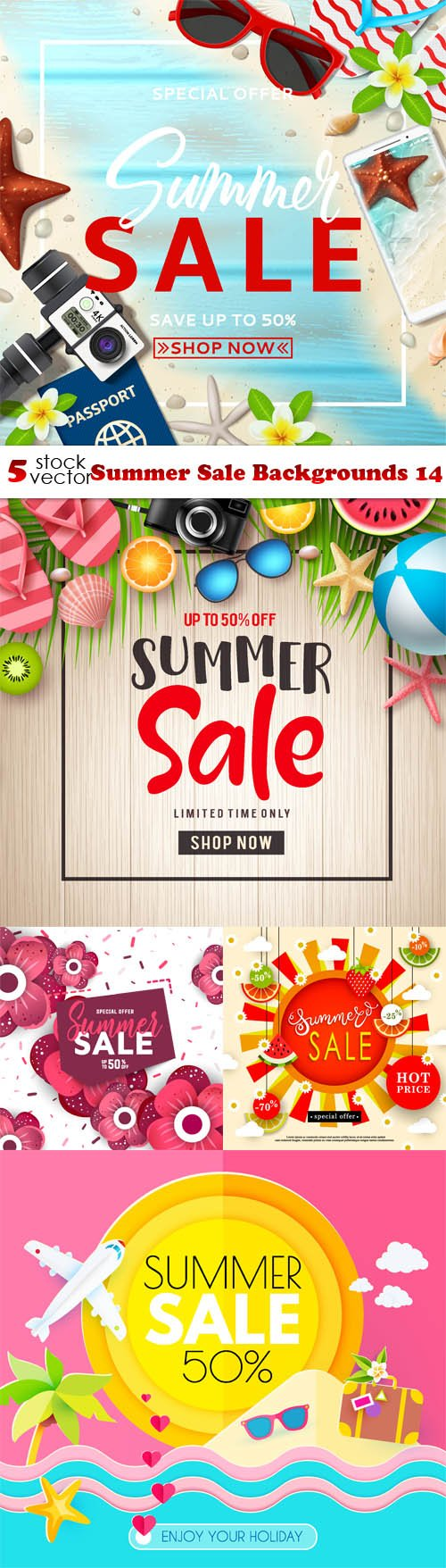 Vectors - Summer Sale Backgrounds 14