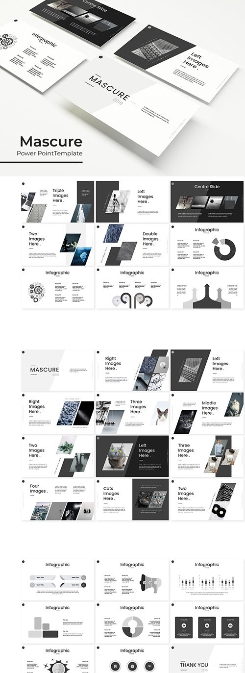 Mascure - Powerpoint, Keynote, Google Slides Templates