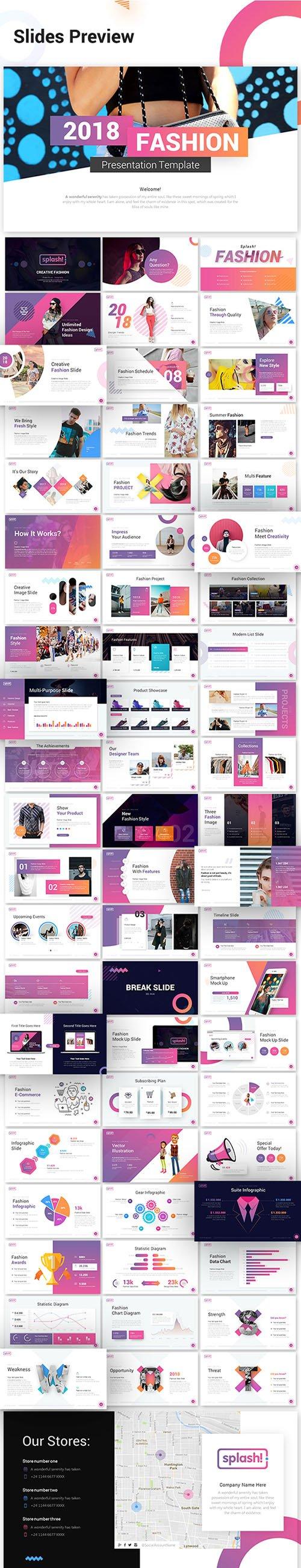 GR - Splash Fashion PowerPoint Presentation Template 22218567
