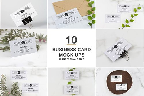 Business Card series Mock Up PSD