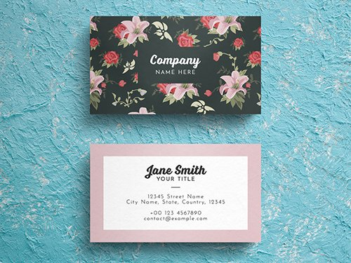 PSDT Floral Business Card Layout 260560750
