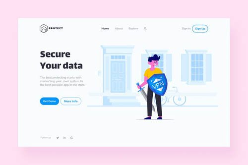 VPN Landing Page Illustration