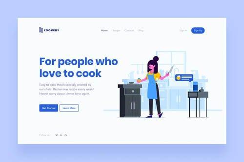 Cooking Landing Page Illustration