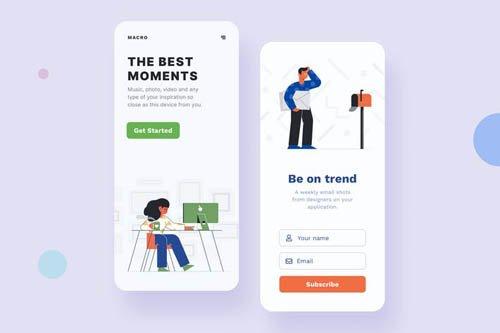 Get Started Mobile Interface Illustrations