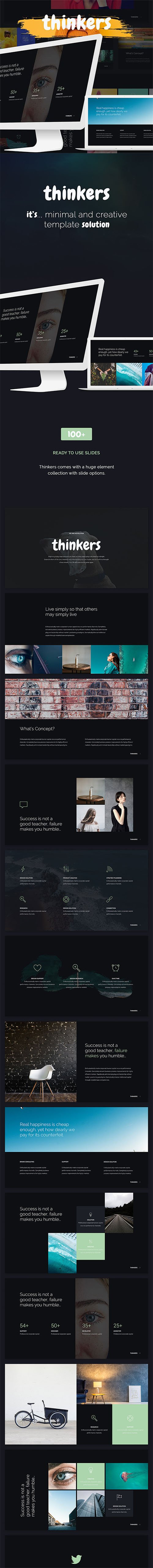 Thinkers - Creative Presentation Powerpoint and Keynote Templates