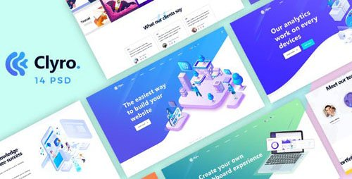 ThemeForest - Clyro v1.0 - Isometric Agency PSD Template - 23377522