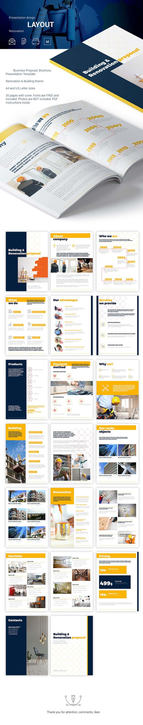 Building & Revonation Proposal Presentation Indesign Template