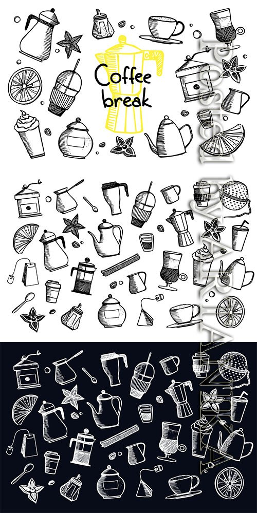 Coffee Break - Coffee doodles