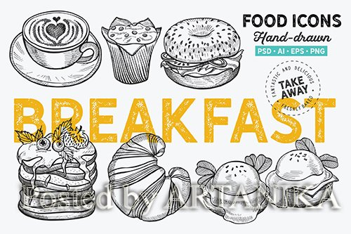 Breakfast Hand-Drawn Graphic