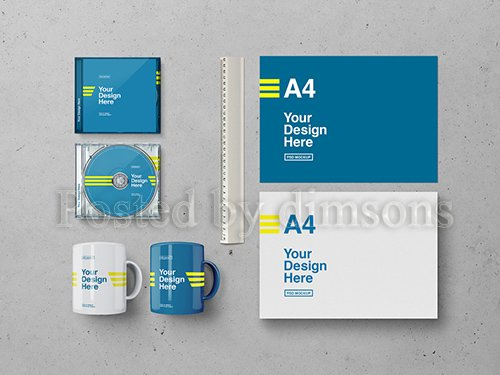 PSDT Paper, Horizontal CD Case, and Mug Mockup 256913635