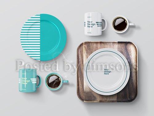PSDT Mugs and Plates Mockup 257701765