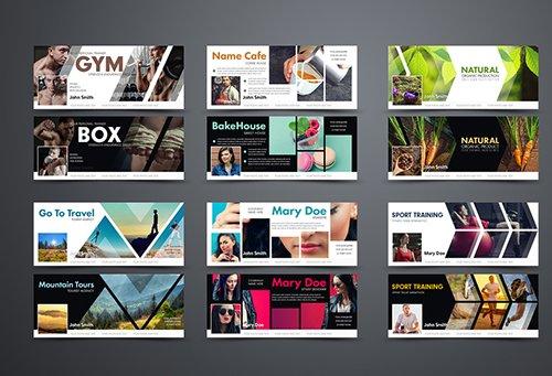 PSDT 12 Social Media Banner Layouts 168355042