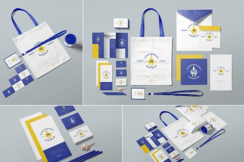 Business Stationery Mockup Scenes