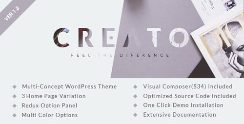 ThemeForest - Creato v1.3 - Parallax WordPress Theme - 12170122