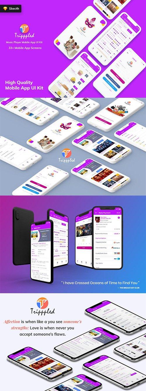 Tripppled- Movie Booking MobileApp UI Kit (Sketch)
